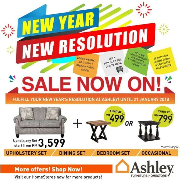 Ashley Furniture HomeStore New Year New Resolution Sale