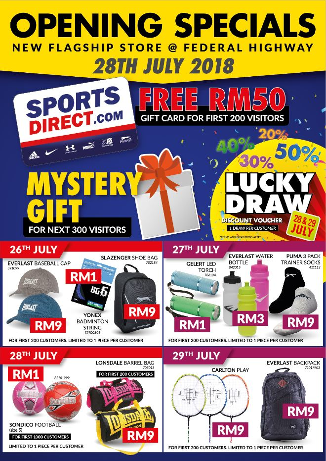 Opening Specials Sports Direct Malaysia
